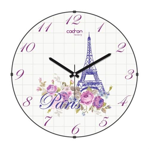 Cadran Luxury Sweet Home Bombeli Cam Duvar Saati Paris