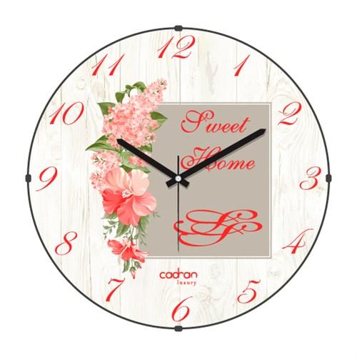 Cadran Luxury Sweet Home Bombeli Cam Duvar Saati Post Card-2