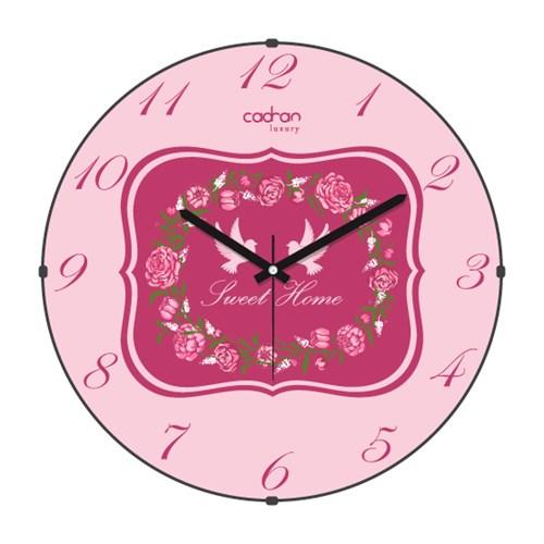 Cadran Luxury Sweet Home Bombeli Cam Duvar Saati Post Card-6