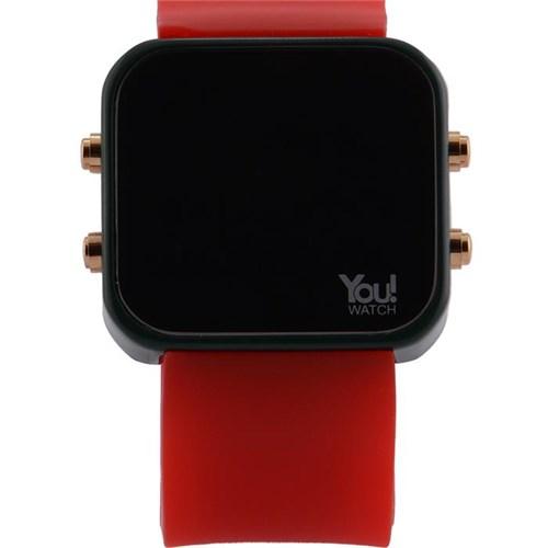 You Watch Khaki Green Red Buttons Unisex Kol Saati
