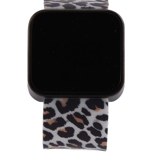 You Watch Matt Black Leopard Unisex Kol Saati