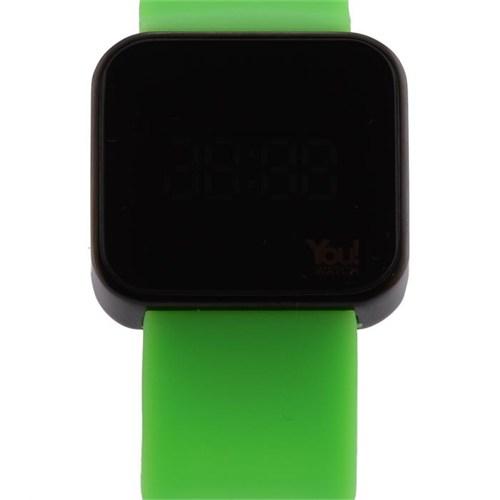 You Watch Matt Black Neon Green Unisex Kol Saati