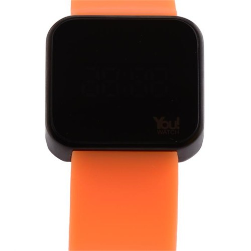 You Watch Matt Black Neon Orange Unisex Kol Saati