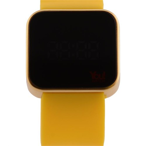 You Watch Matt Gold Yellow Unisex Kol Saati