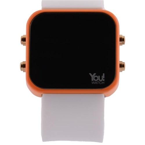You Watch Orange White Buttons Unisex Kol Saati