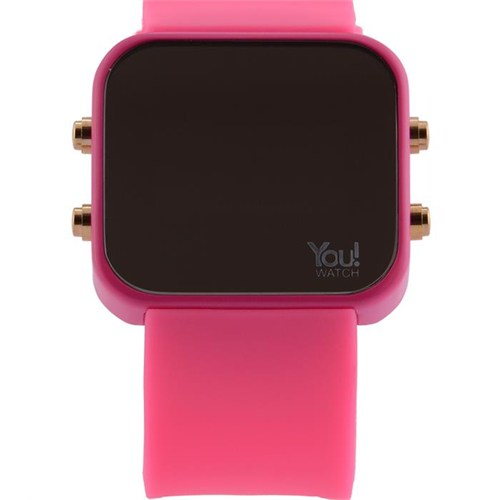 You Watch Pink Buttons Unisex Kol Saati