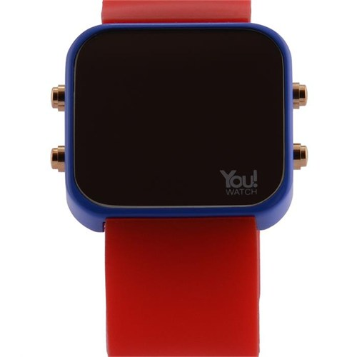 You Watch Saxe Blue Red Buttons Unisex Kol Saati