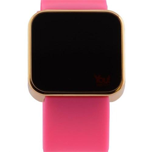 You Watch Shiny Gold Pink Unisex Kol Saati