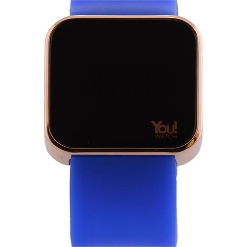 You Watch Shiny Gold Saxe Blue Unisex Kol Saati