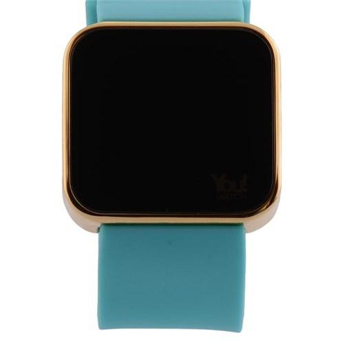 You Watch Shiny Gold Turquoise Unisex Kol Saati