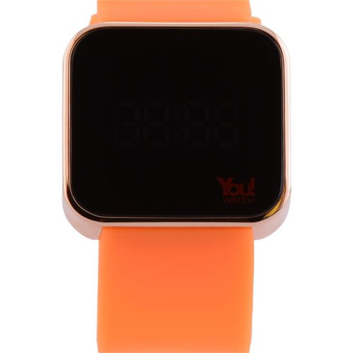 You Watch Shiny Rose Orange Unisex Kol Saati