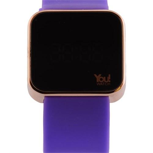 You Watch Shiny Rose Purple Unisex Kol Saati