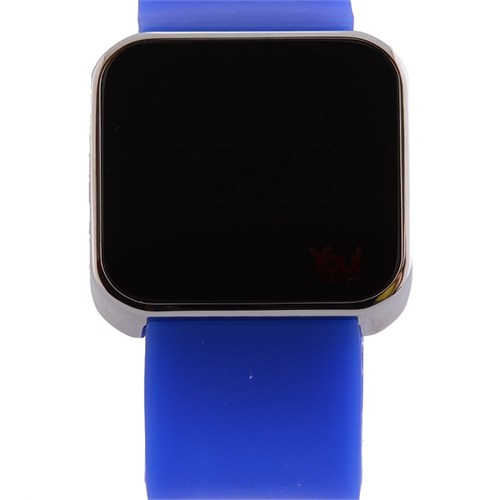 You Watch Shiny Silver Saxe Blue Unisex Kol Saati
