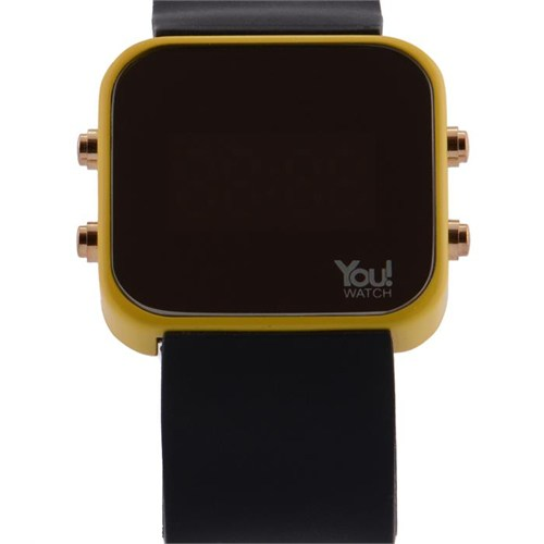You Watch Yellow Black Buttons Unisex Kol Saati