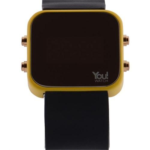 You Watch Yellow Black Buttons Unisex Kol Saati