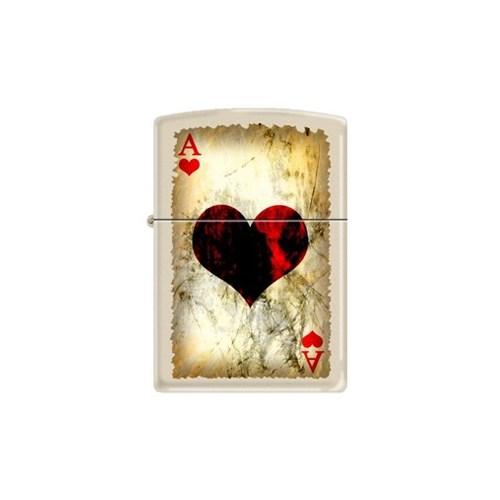 Zippo Ci012192 Ace Of Hearts Worn Çakmak