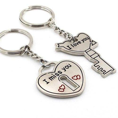 Solfera Sevgililer Kalp Anahtarı Anahtarlık Seti Kc551