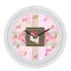 Cadran Dekoratif Vintage Duvar Saati Çatlak Desen Pasta 1108-8