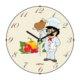 Cadran Mutfak Bombeli Cam Duvar Saati Aşçı 180-2