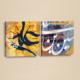 Dekorjinal Etnik Desenli 2 Parçalı Tablo Saat Seti CHNE186