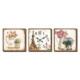 M3Decorium Eyfel Ve Çiçekler Desenli Kanvas Tablo Duvar Saati