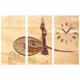 Tictac Design 3 Parça Tablo Saat Tuğra