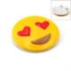 Solfera Aşık Emoji Kalp Smile Broş Rozet Metal Aksesuar İğnesi Rz005