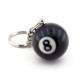 Solfera Bilardo Topu 8 Numara Siyah Anahtarlık Kc614