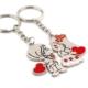 Solfera Erkek Kız Kırmızı Kalpler Metal Anahtarlık Kc483