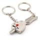 Solfera Kalp Ok Love Aşk İkili Metal Anahtarlık Kc493