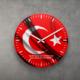 KFBimilyon TÜRK Bayrağı Dalgalı Baskılı MDF Ahşap Duvar Saati