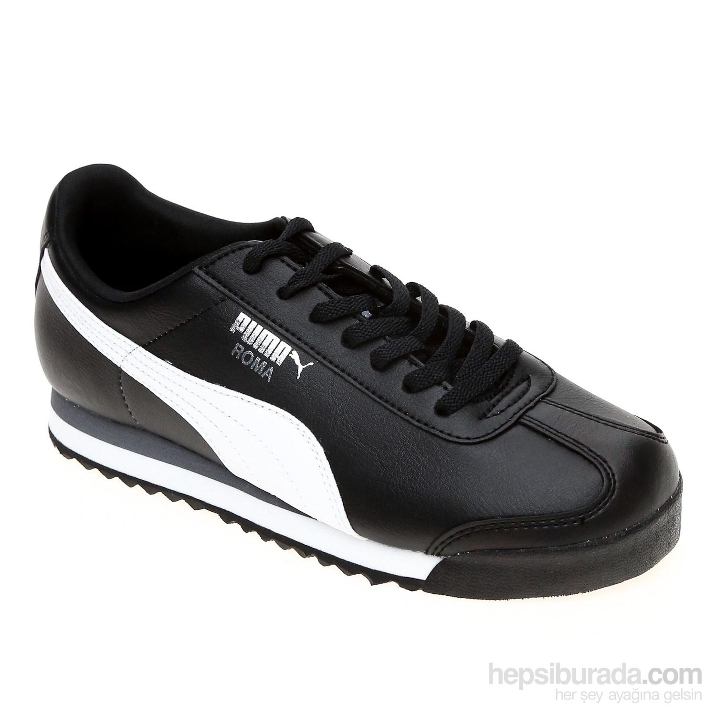 Puma Roma Basic Jr Siyah-Beyaz Puma Silver Kadın Spor Ayakkabı 354259011 ...