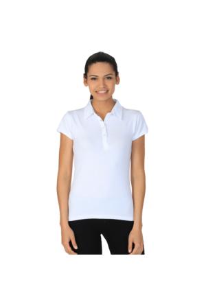 Sportive Polo Yaka Kadın T-Shirt