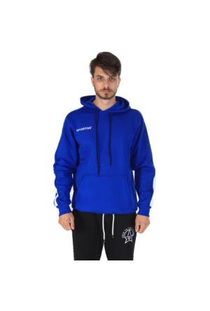 Sportive Erkek Kapşonlu Sweatshirt
