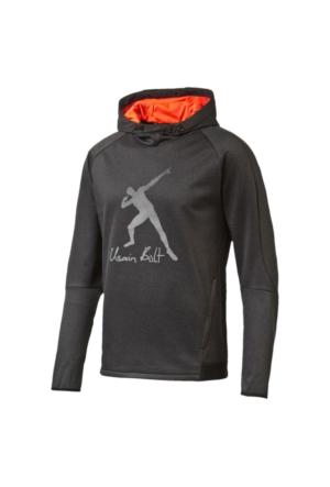 Puma 838994-07 Ub Evostripe Logo Hoody Dark Gray Erkek Sweat