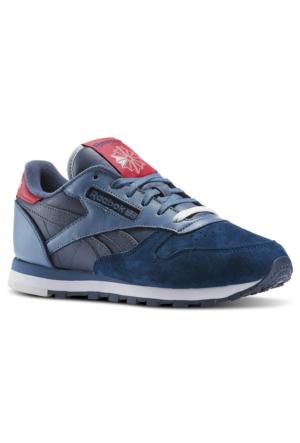 Reebok Aq9854 Cl Lthr Eb Blue/Slate/Pink Kadın Spor Ayakkabı