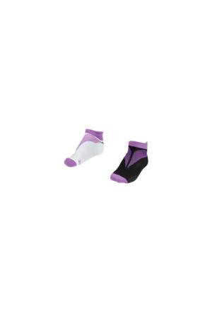 Lescon La-2196 Mor Erkek Patik Çorap 30-35 2'Li