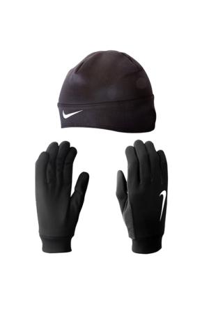 Nike Womens Dri-Fit Koşu Eldiveni Bere Seti NRC01-001