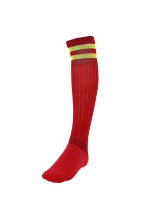 Sportive Super Lux Çorap Krmz/Sarı