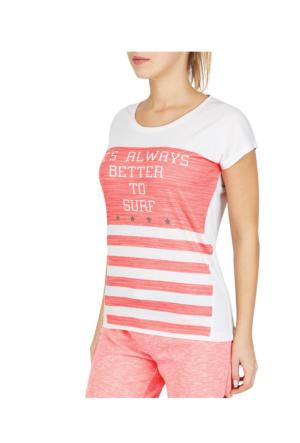 Lescon 16Y-2137 Beyaz Neonyavruağzı Kadın Tişört
