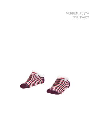 Lescon La-2188 Standart Erkek Patik Çorap 31-35 3'Lü