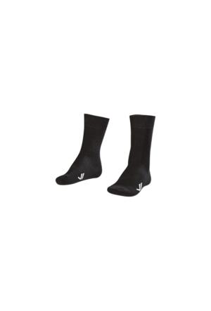 Lescon La-2186 Siyah Erkek Klasık Çorap 40-45 2'Li