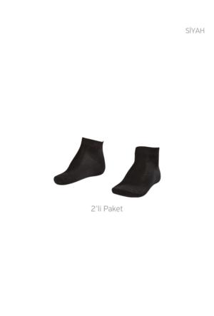 Lescon La-2184 Siyah Erkek Patik Çorap 40-45 2'Li