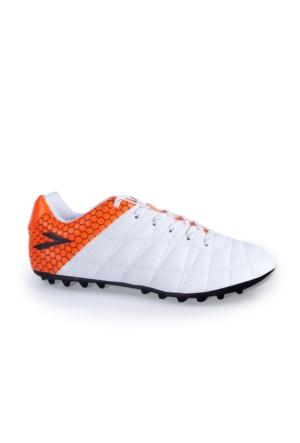 Lig Ilgaz Halı Saha Ayakkabısı Beyaz-Turuncu