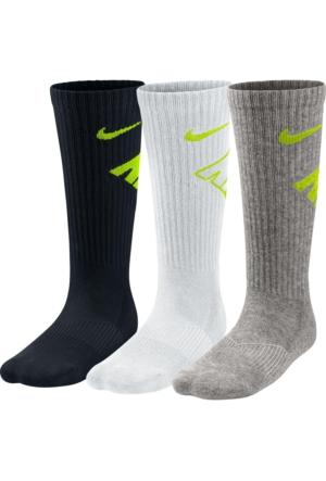 Nike Sx4715-972 Y Nk Perf Cush Crew 3Pr-Gfx Çocuk Çorap