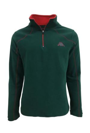 Kappa Erkek Yarım Fermuarlı Polar Sweatshirt Yeşil 1300FZZ0XGQ
