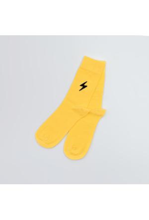 Sportsoul Erkek Çorap Sarı SSSSYLW
