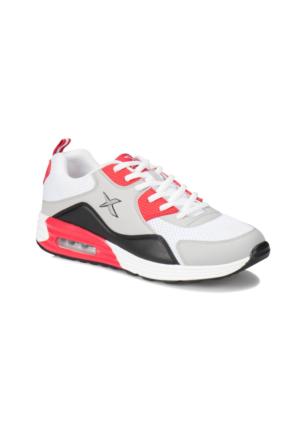 Kinetix Alven Mesh Siyah Açık Gri Kırmızı Erkek Sneaker