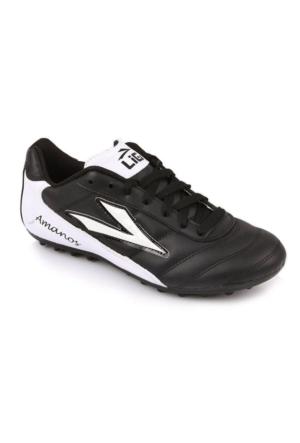 Lig Amanos Erkek Siyah Halı Saha Spor Ayakkabı