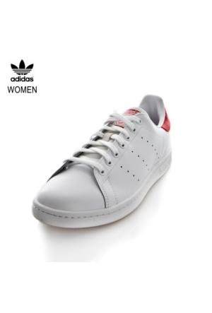 Adidas M20326 Stan Smith White Ftwr White Collegiate Red Spor Ayakkabı